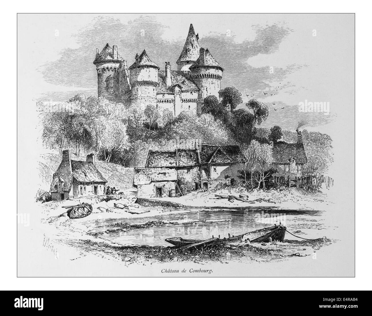 Chateau de Combourg, France_Illustration from 'The British isles - Cassell Petter & Galpin Part 8 Picturesque - Stock Image