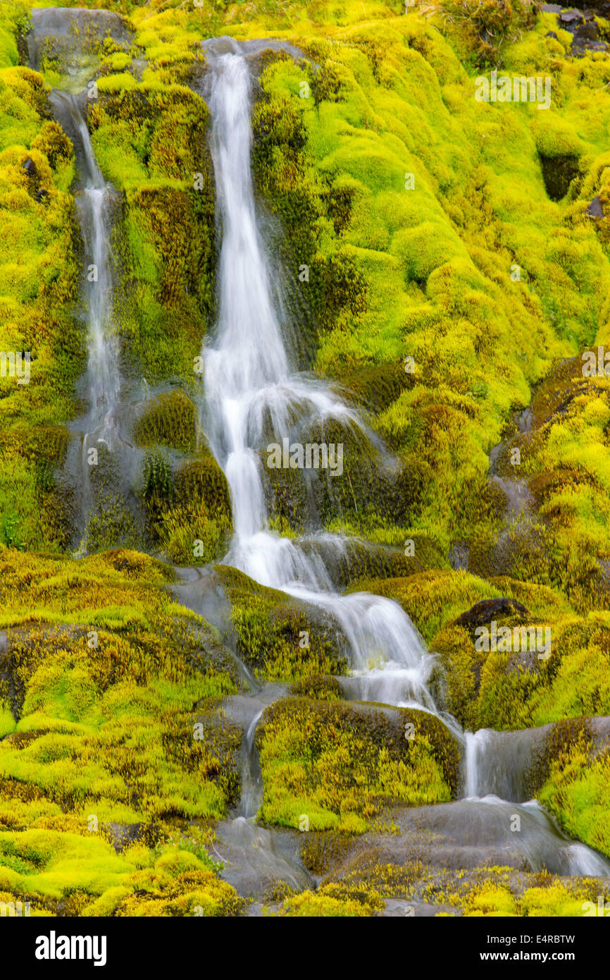 Iceland, scenic, Landschaft in Island, Wasserfall Stock Photo