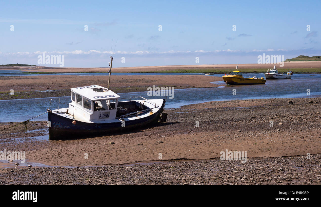 River Esk estuary at Ravenglass on the Cumbrian coast. - Stock Image