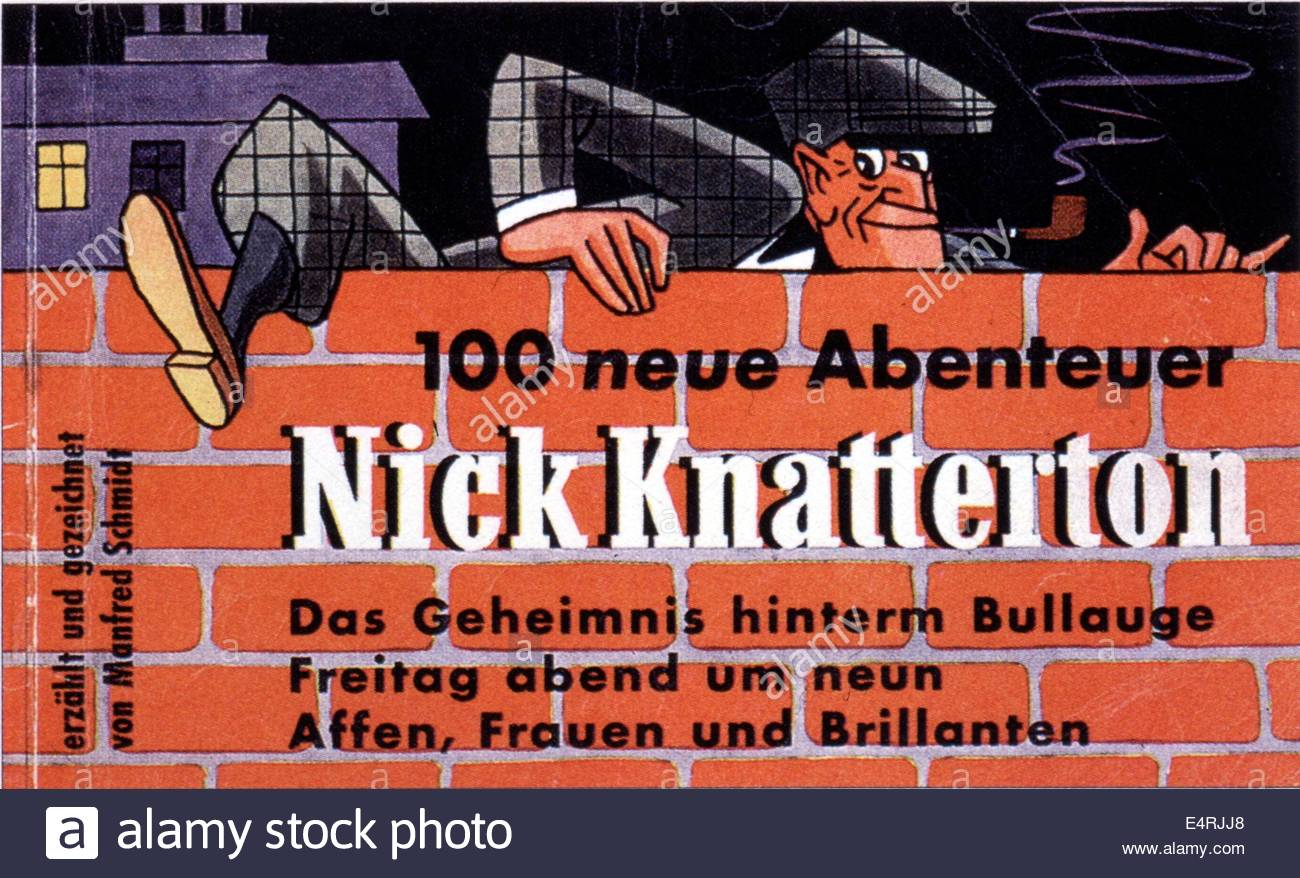 literature, strip cartoon, comic character, 'Nick Knatterton', '100 new adventures', cover, 1950s, - Stock Image