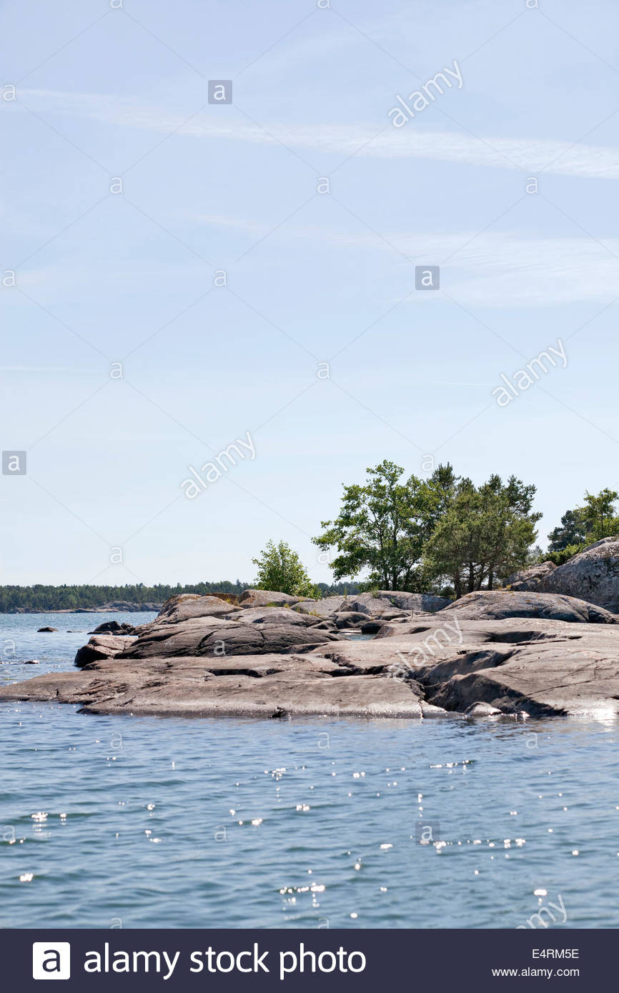 Sunny summer day in Southwest Finland - Stock Image