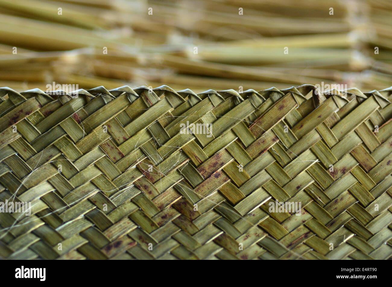 Maori weaving artwork background texture. - Stock Image