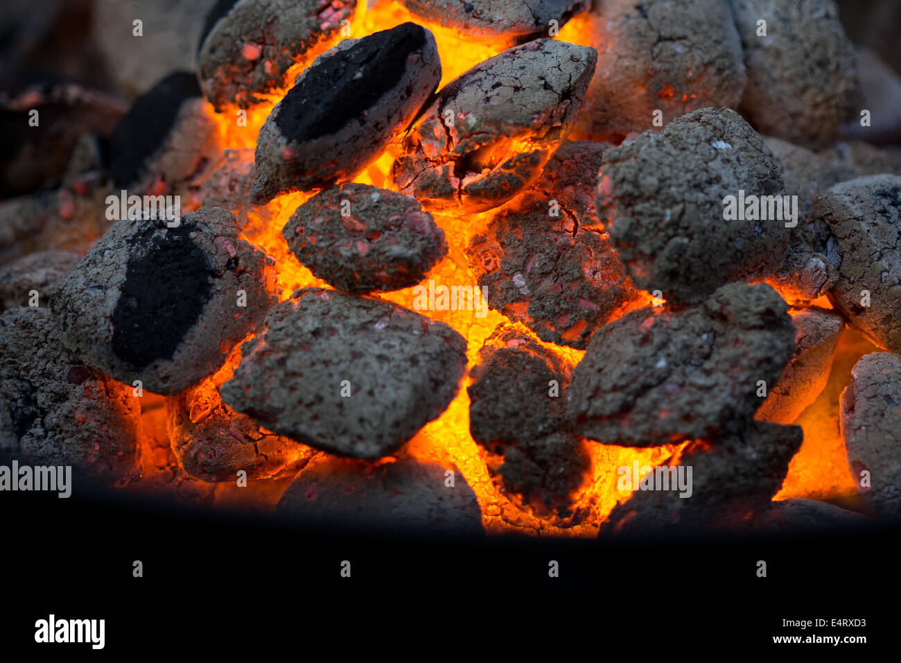 Embers of coal - Stock Image