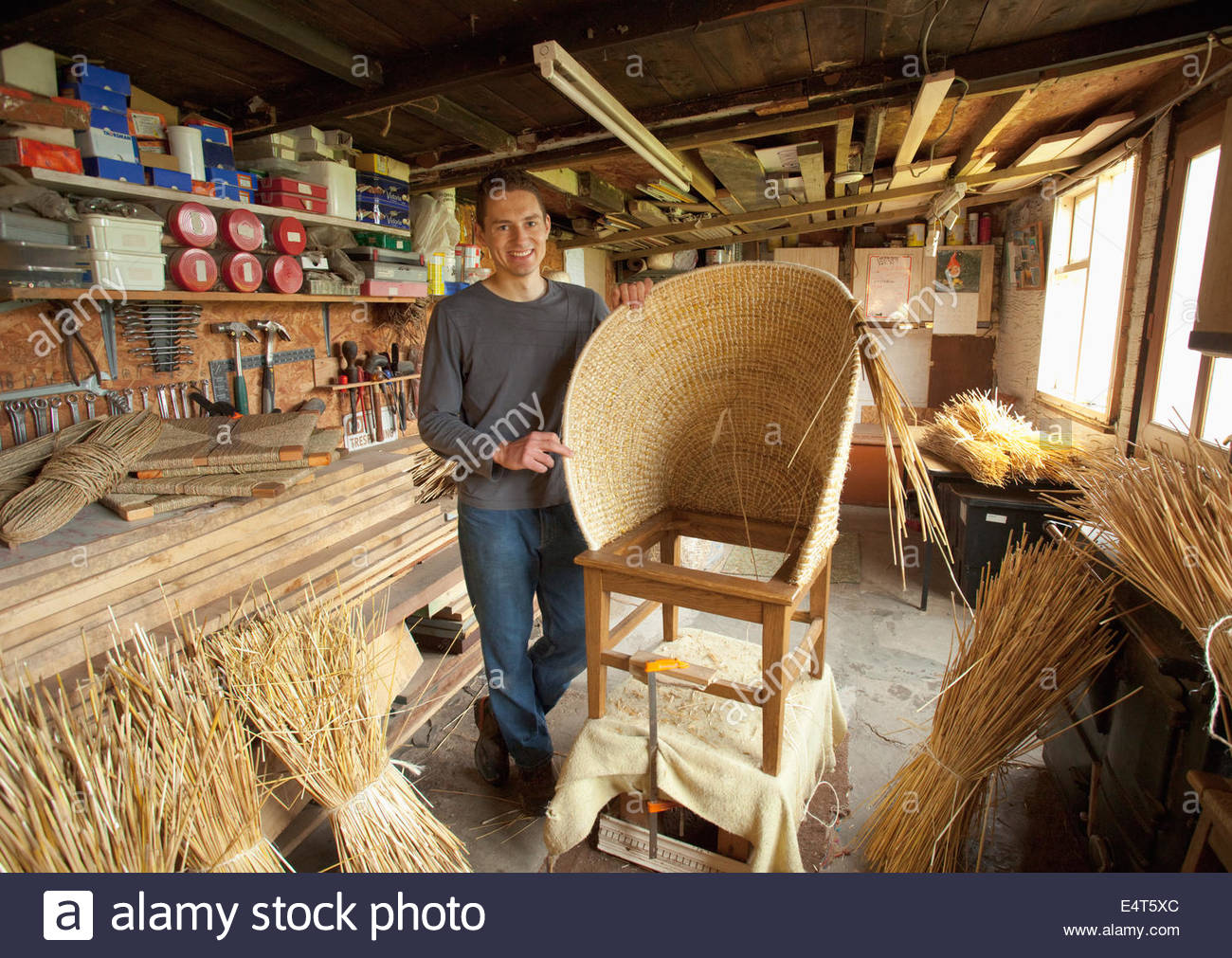 Fraser Anderson's Orkney Hand Crafted Furniture  workshop in Kirkwall, Mainland, Orkney, Scotland. Pictured - Stock Image