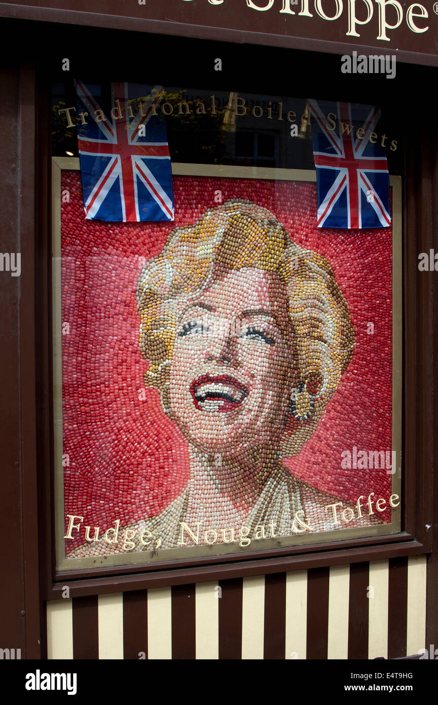 Marilyn Monroe Picture Made Of Jelly Beans Mr Simms Olde Sweet Shoppe Stratford Upon Avon Uk