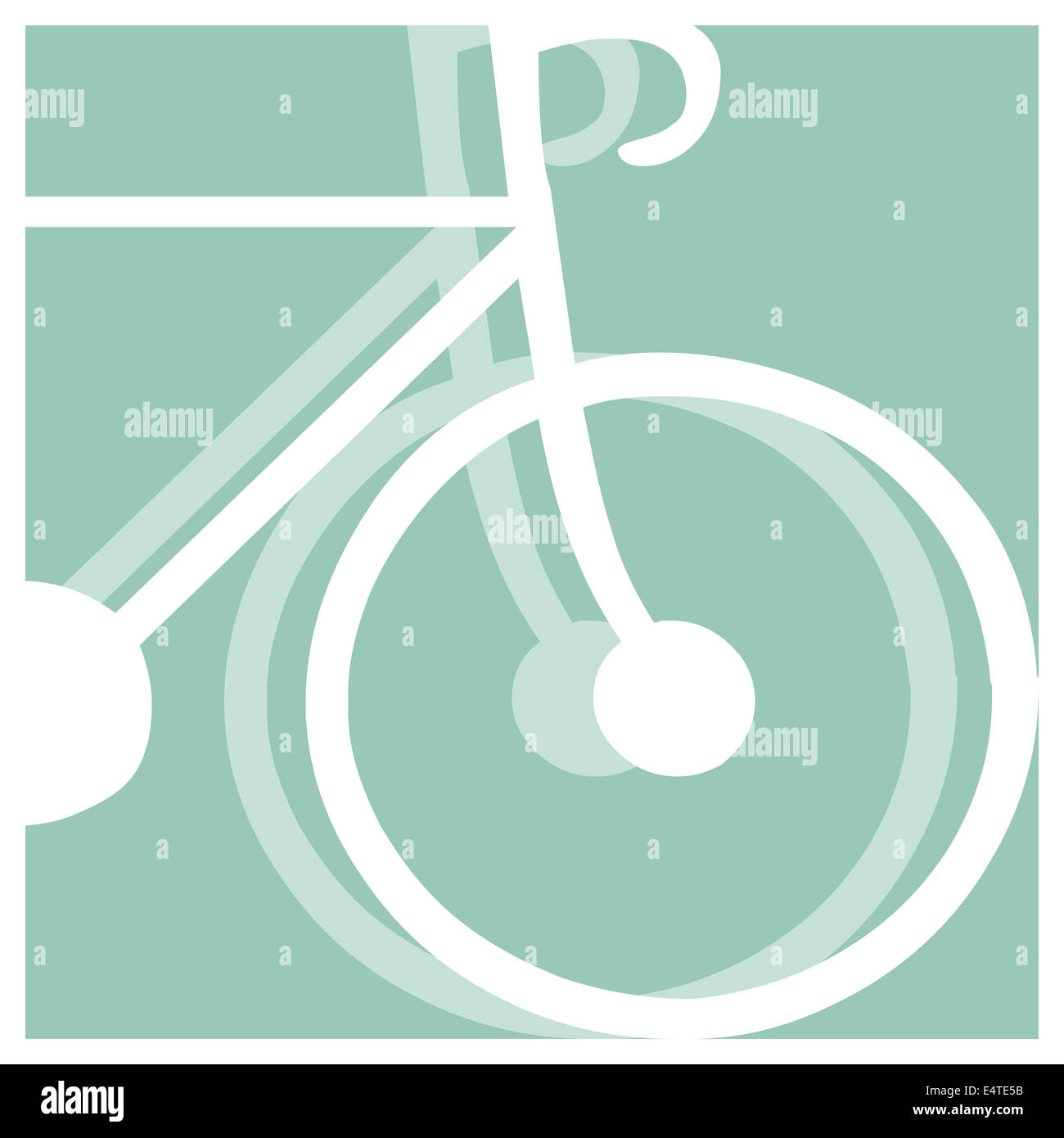 bicycling pictogram - Stock Image