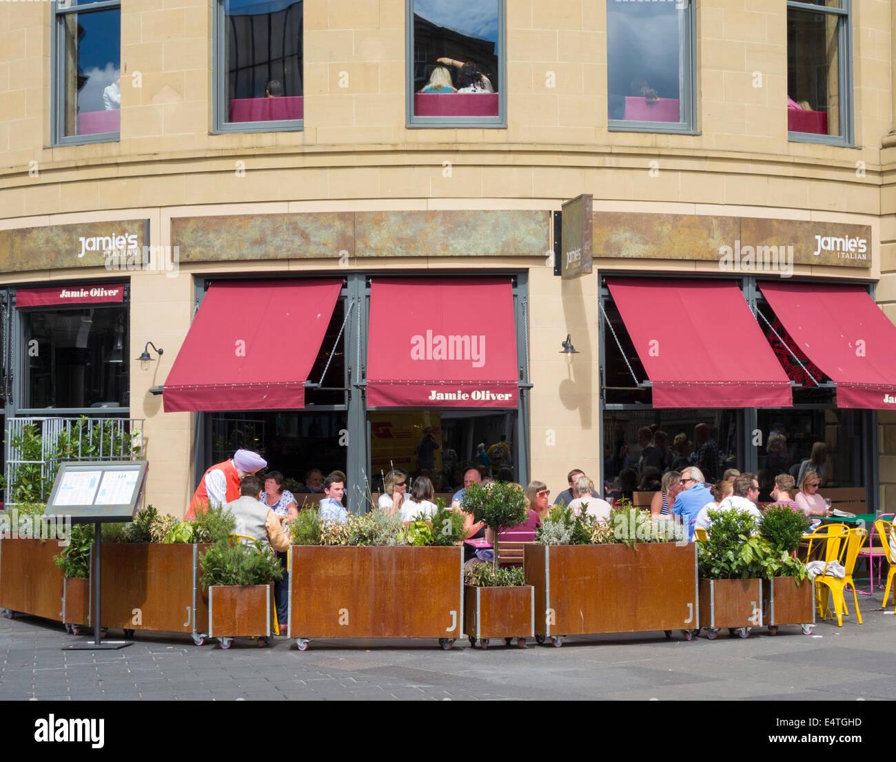 Jamie Oliver restaurant, Newcastle upon Tyne, England, UK - Stock Image