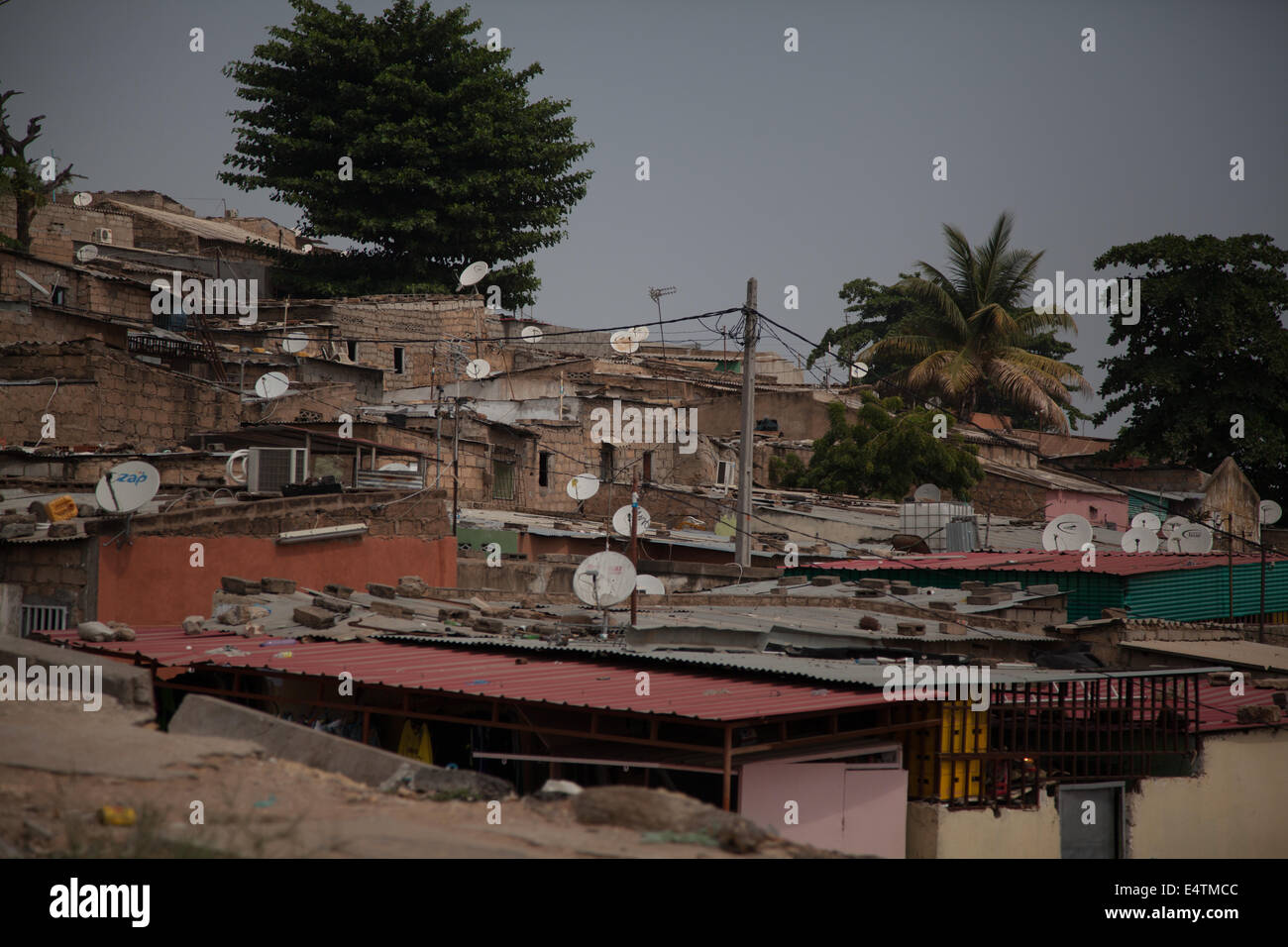 Angola, Luanda, city life, Africa buildings in city - Stock Image