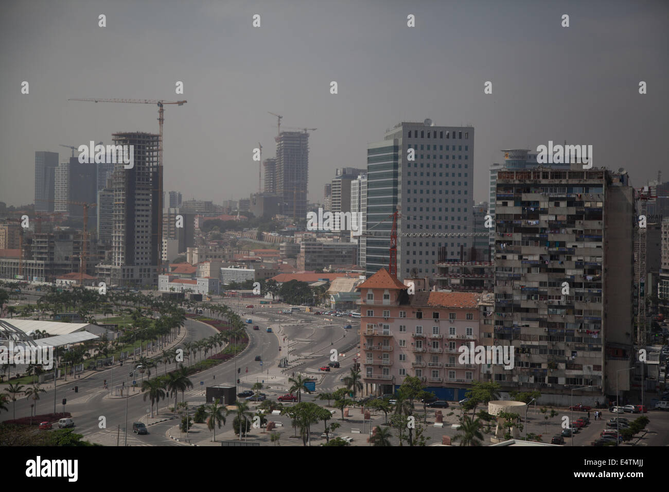 Angola, Luanda buildings country profile cityscape city life new sky scrapers in town - Stock Image