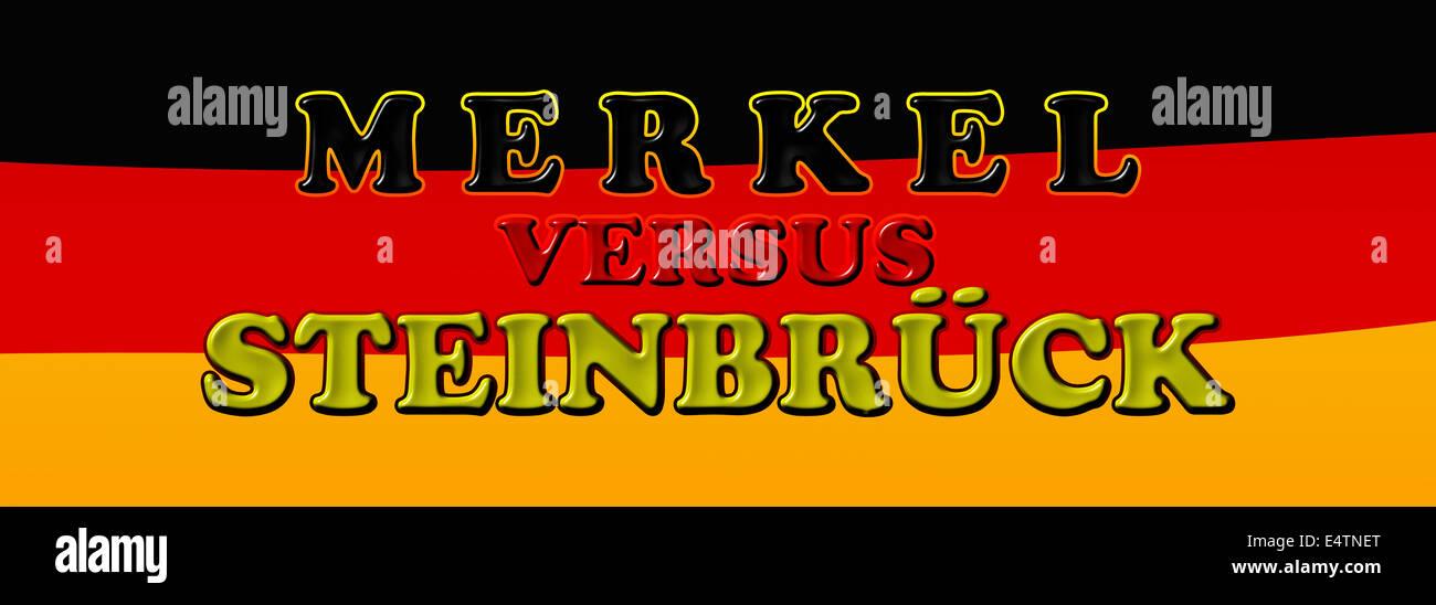 Merkel vs Steinbrueck - Stock Image