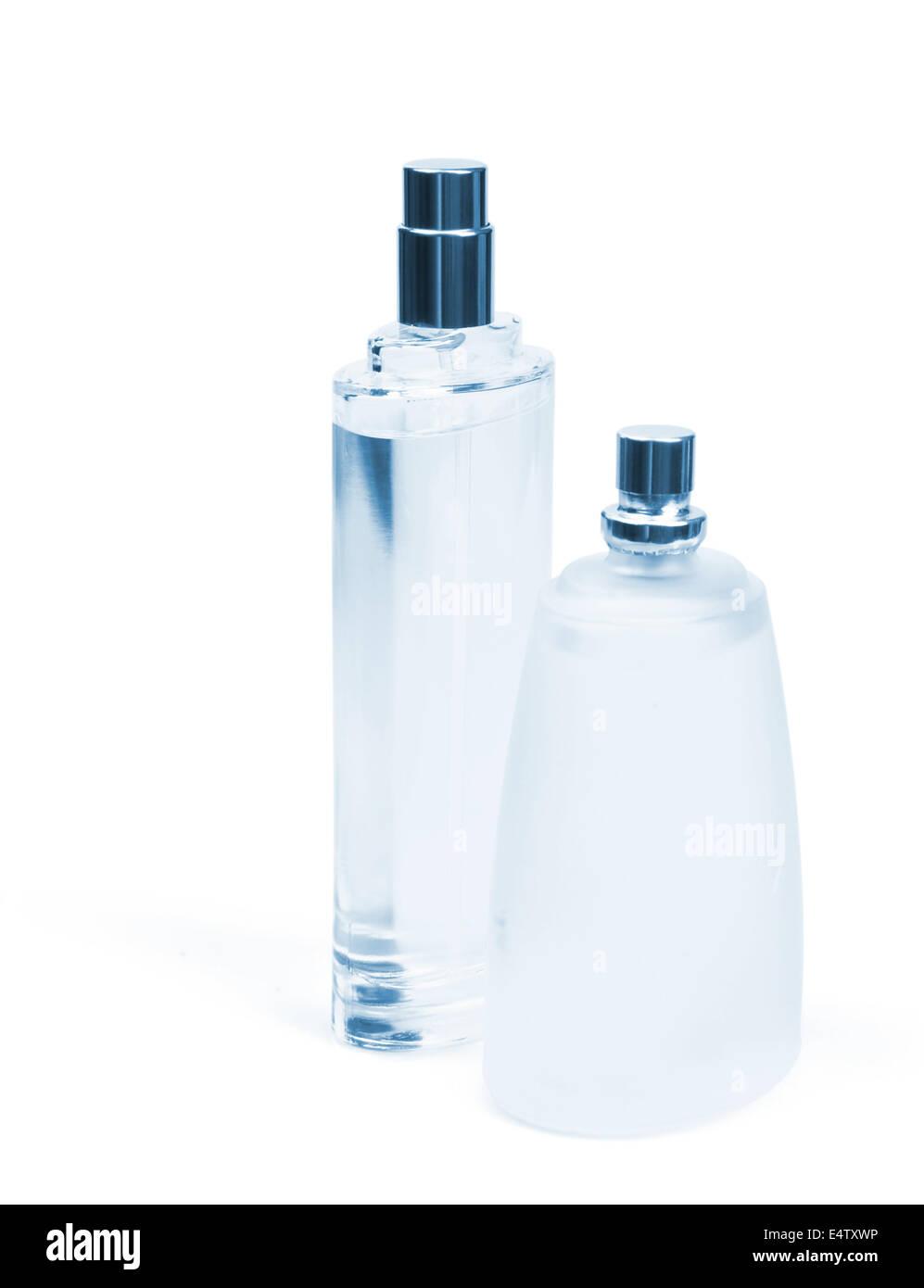 glass bottles of perfume - Stock Image