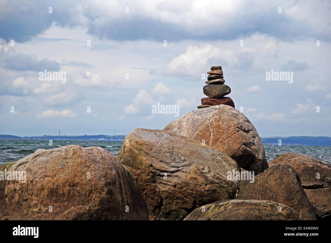 Stone Pyramid - Stock Image