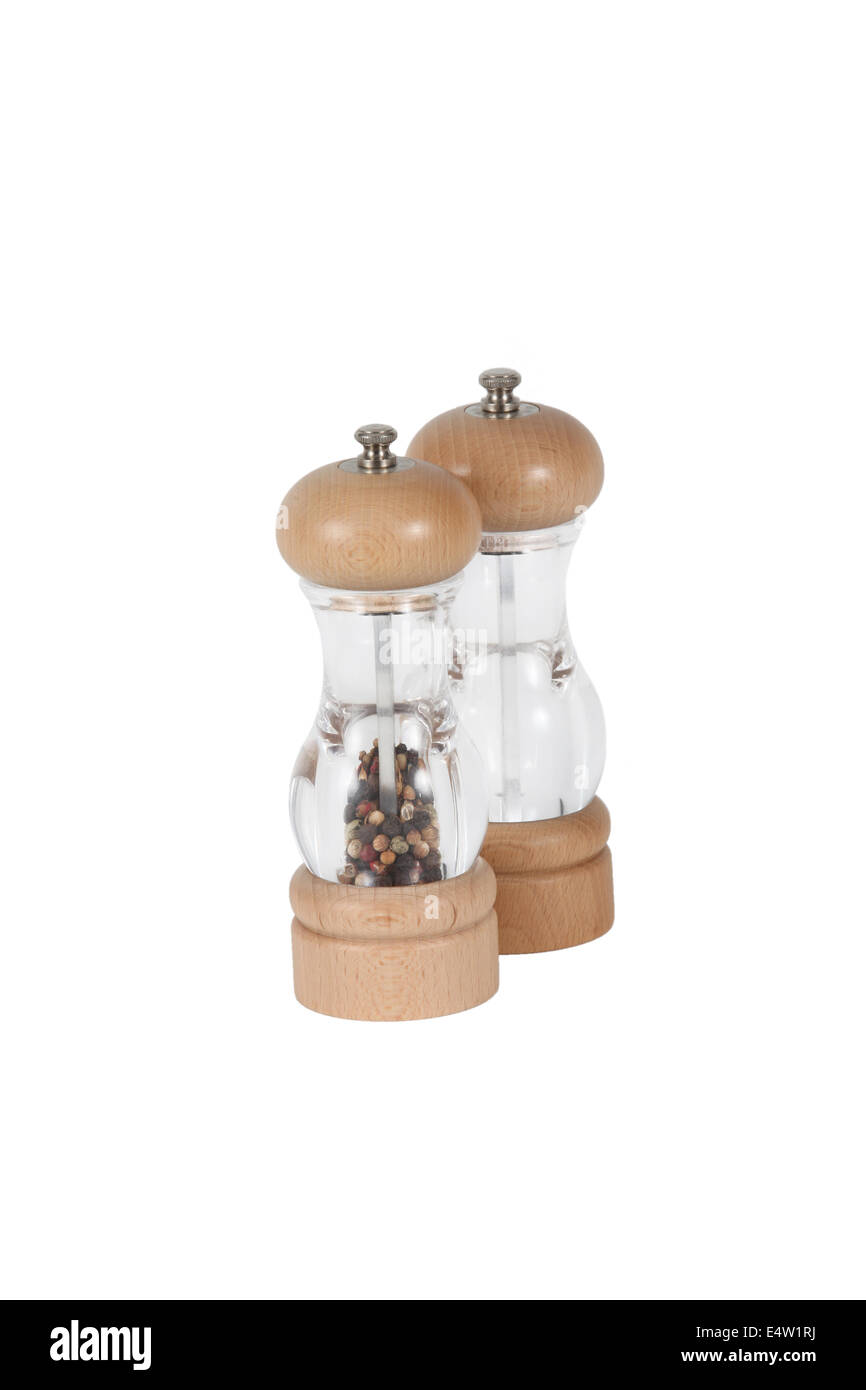 Sal and pepper mills - Stock Image
