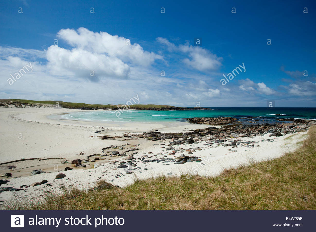 Looking over Hosta Beach or Traigh stir, North Uist, Outer Hebrides, Scotland. - Stock Image