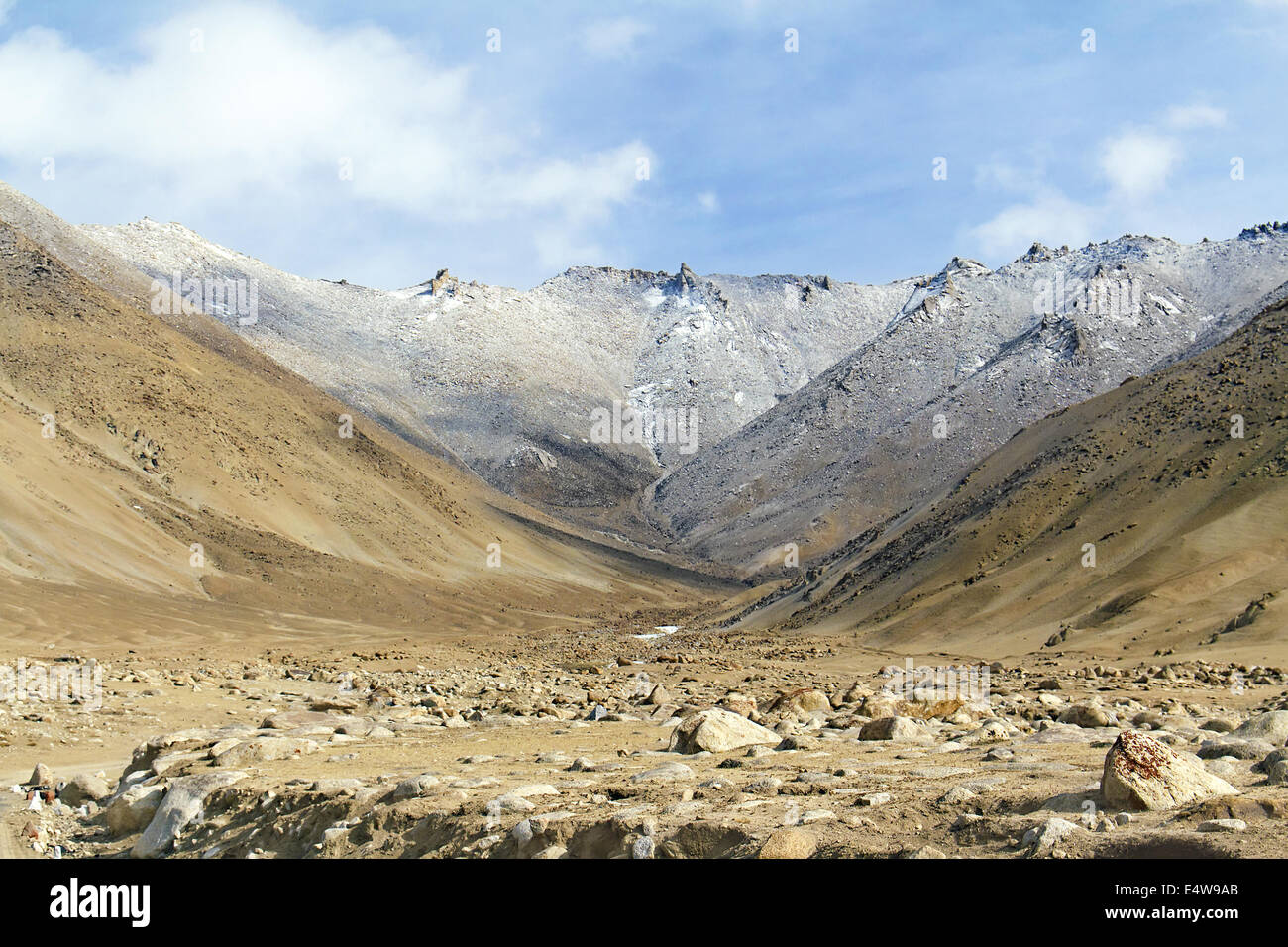 mountain valley in the Himalayas - Stock Image