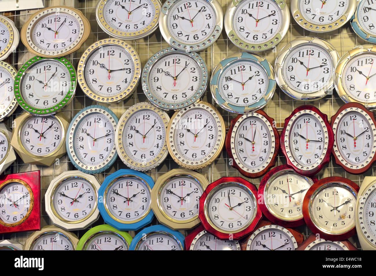 Wall Clocks - Stock Image