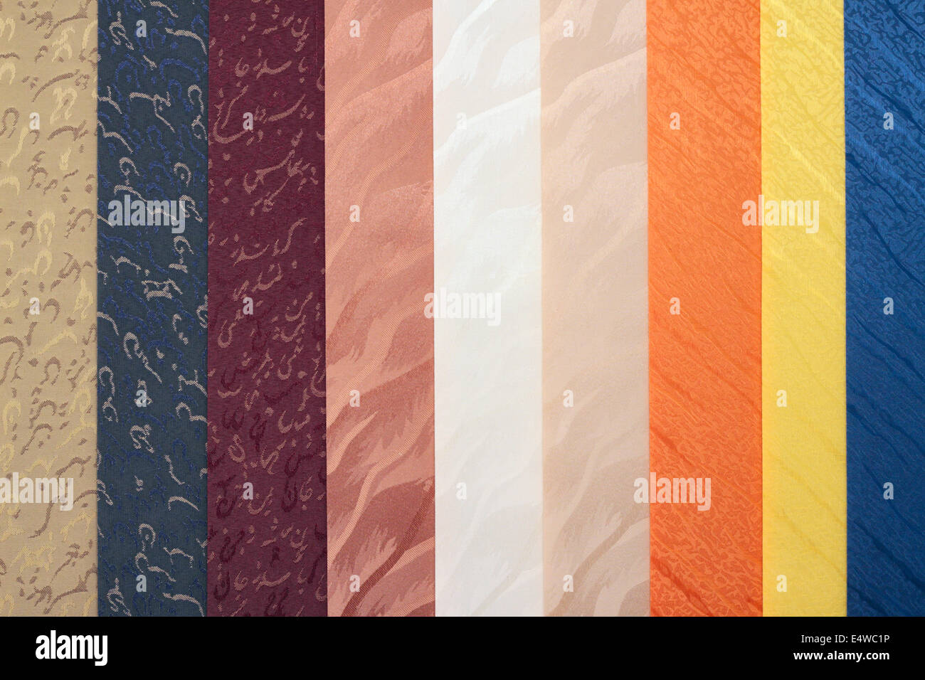 Multi-colored blinds - Stock Image