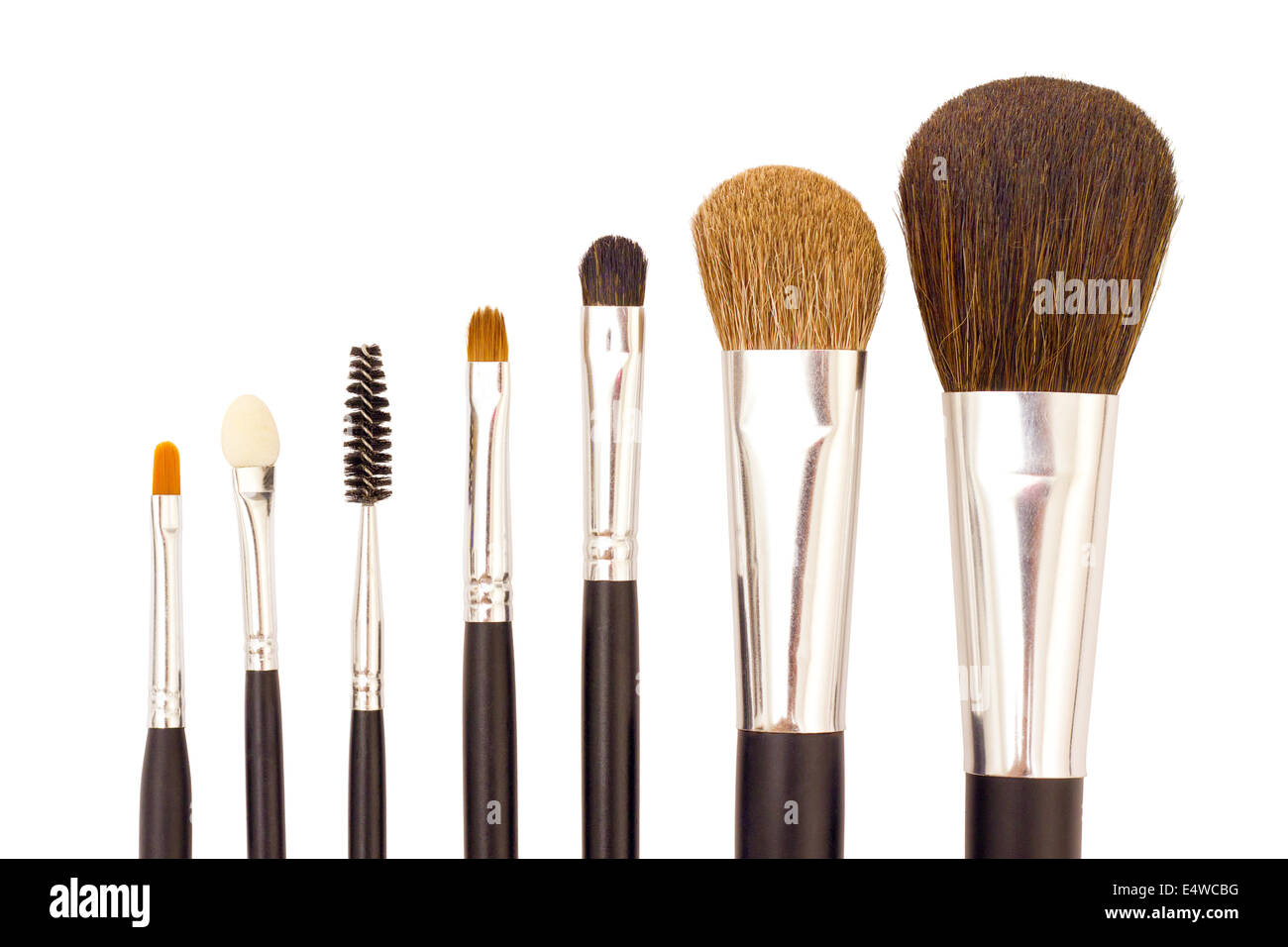 A set of brushes for applying makeup - Stock Image