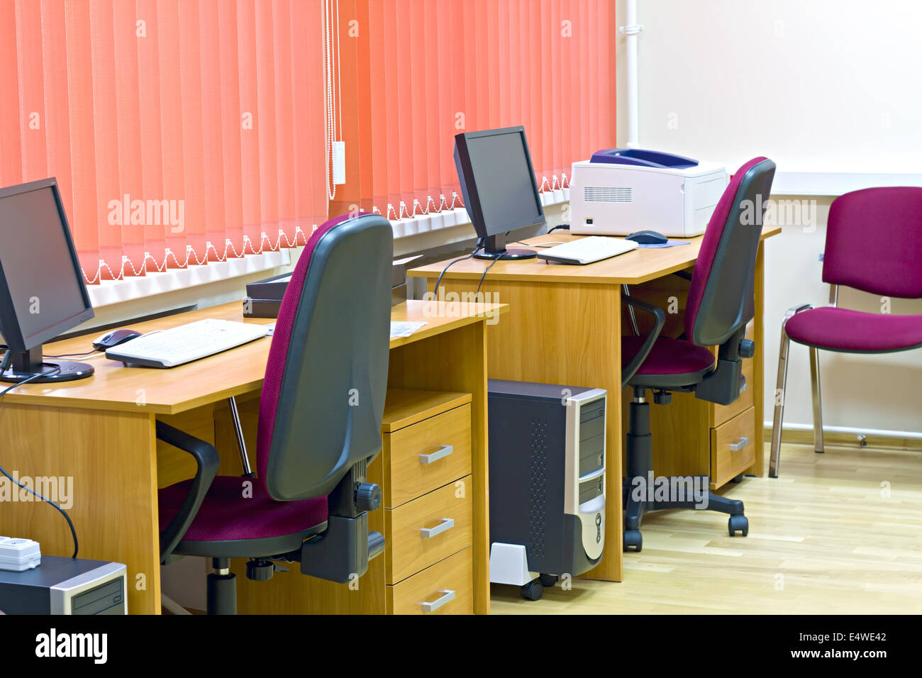 office interior with two jobs - Stock Image