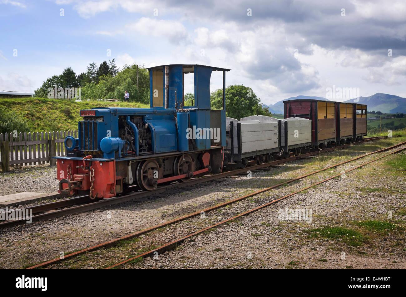 Quarry train at the Threlkeld Mining Museum, Cumbria, UK - Stock Image