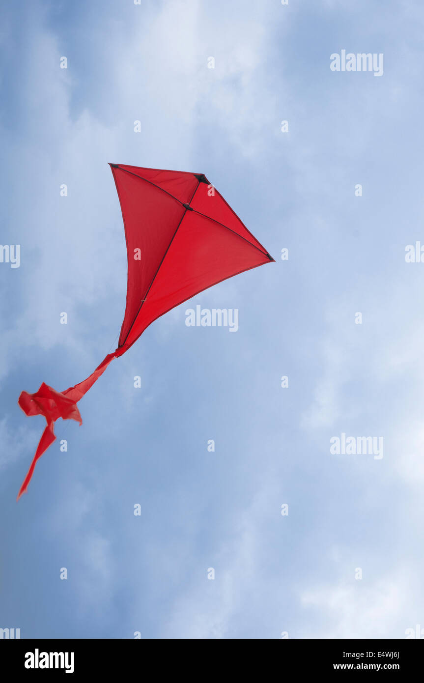 red kite, flying in the sky, photograph - Stock Image