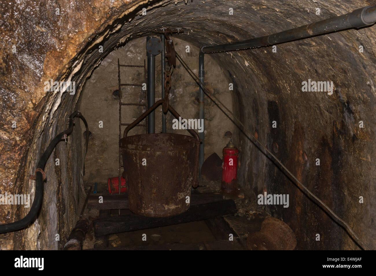 Underground at the Threlkeld Mining Museum in Cumbria - Stock Image