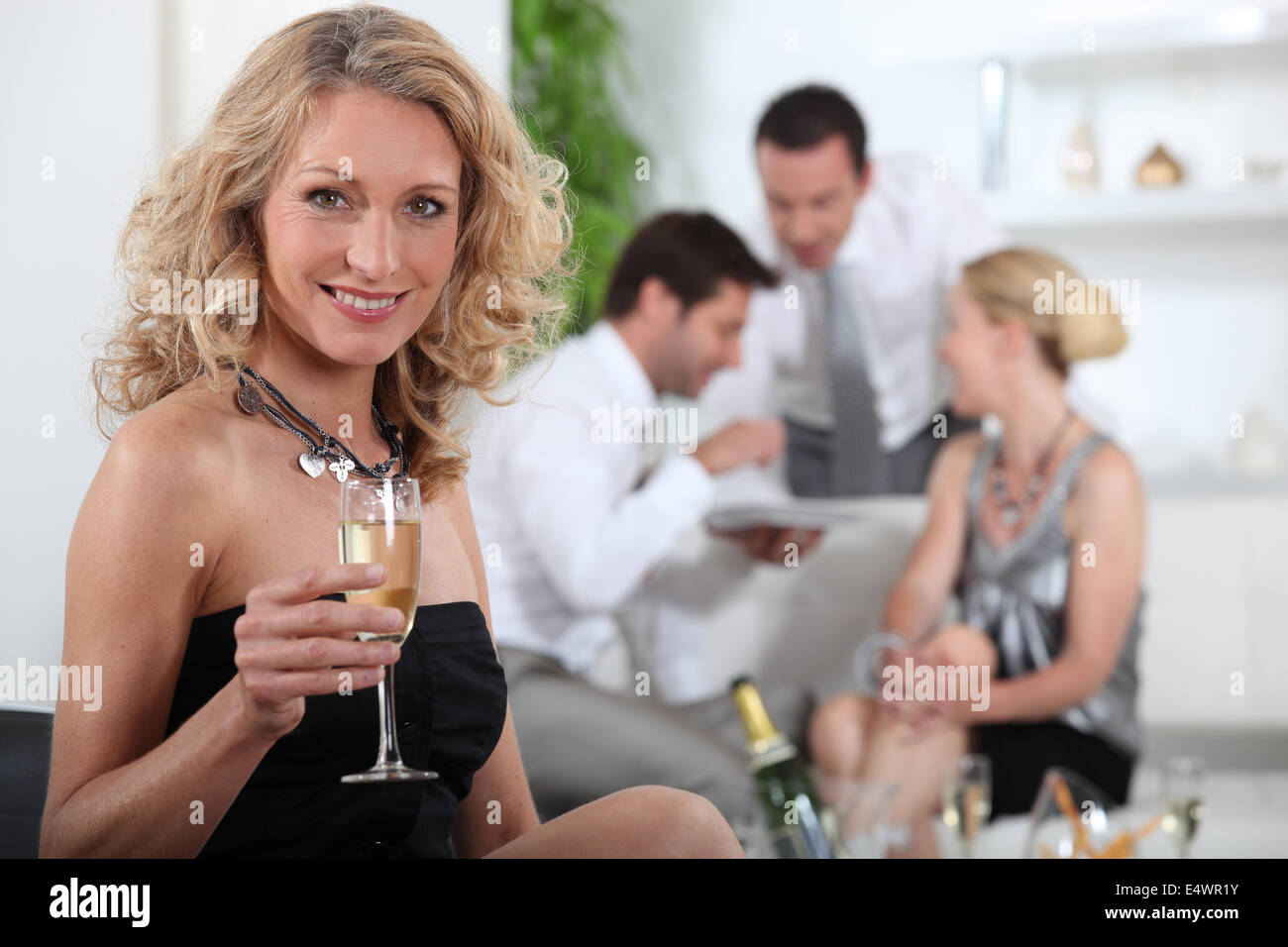 Aperitif with friends - Stock Image
