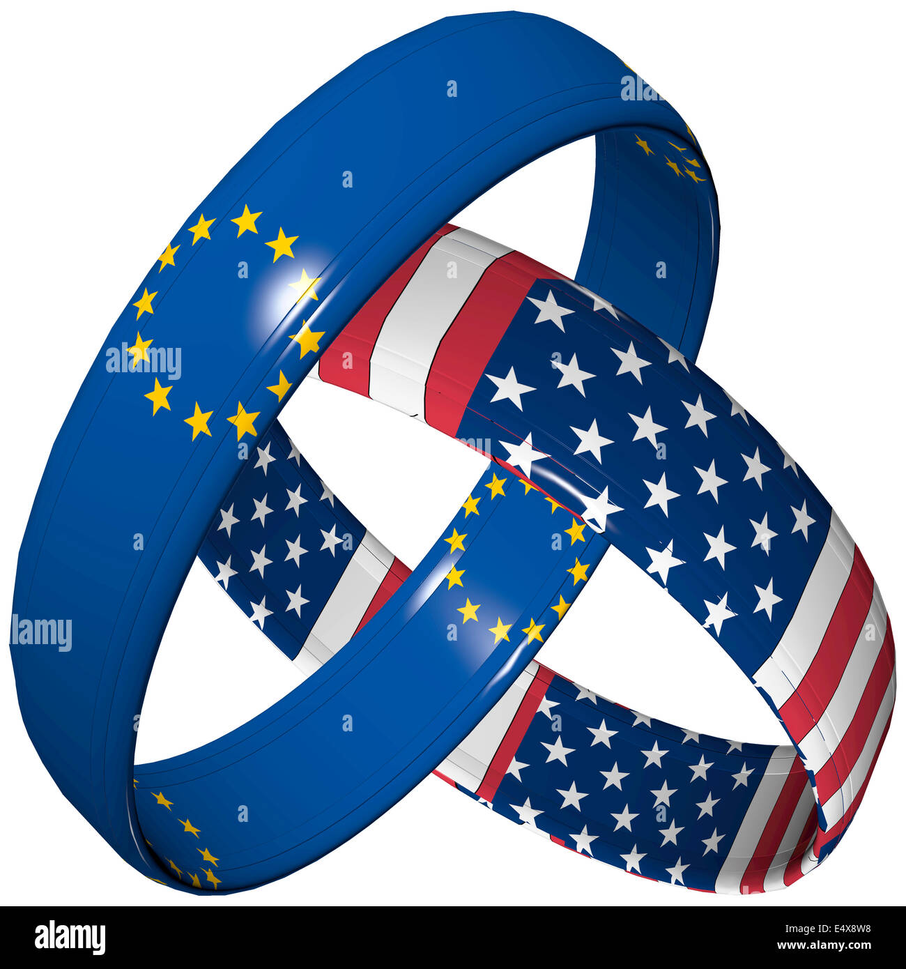 Ttip Symbol Free Trade Union Between European Union And America