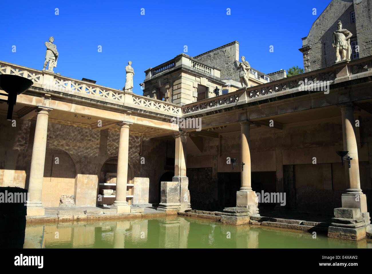 The Roman Baths in Bath, Somerset, England - Stock Image