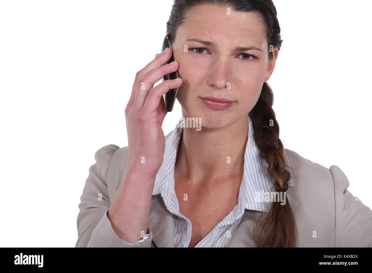 Women on the phone - Stock Image