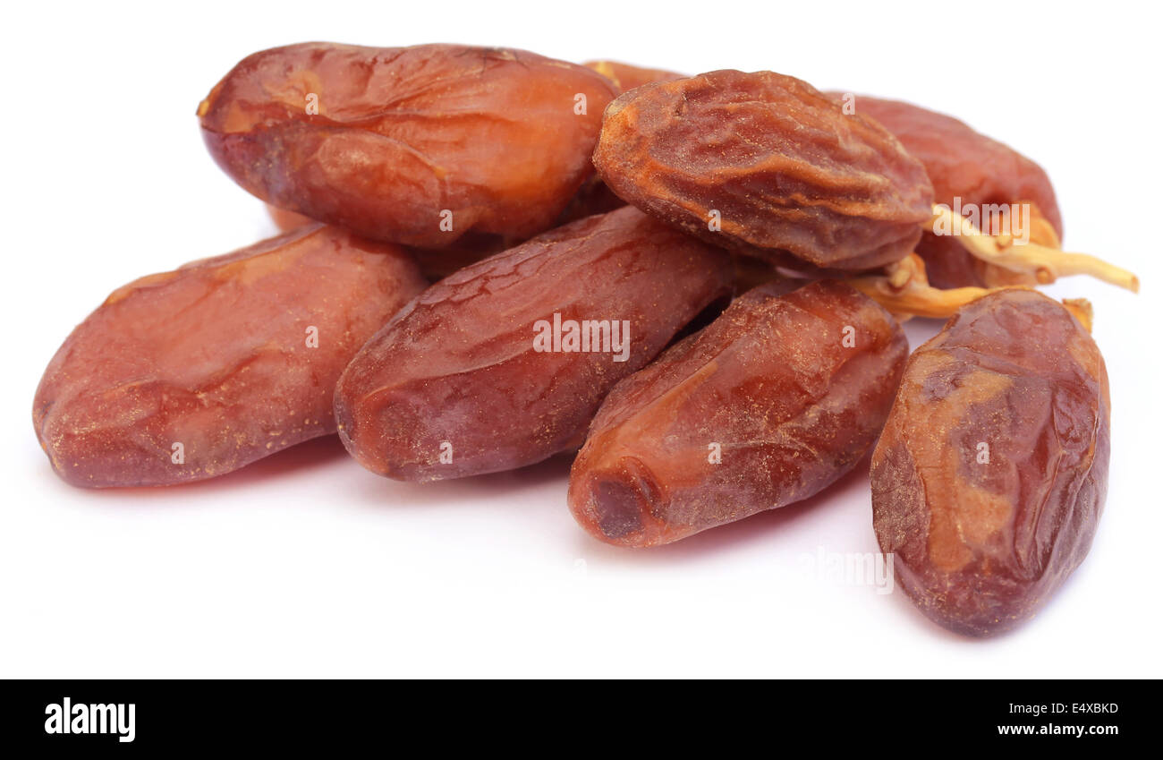Fresh date over white background - Stock Image