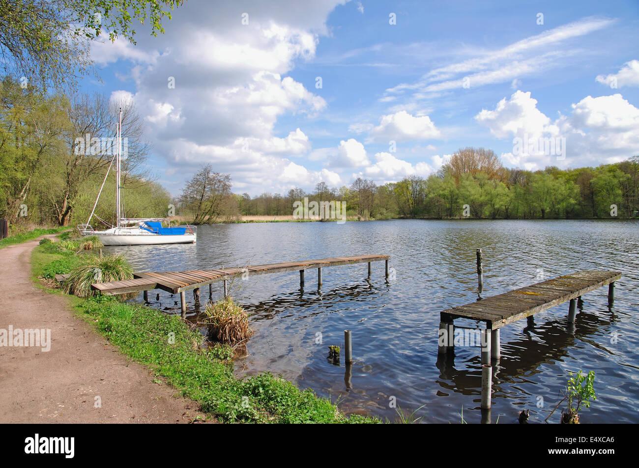 Lake DeWitt,Lower Rhine,Germany - Stock Image