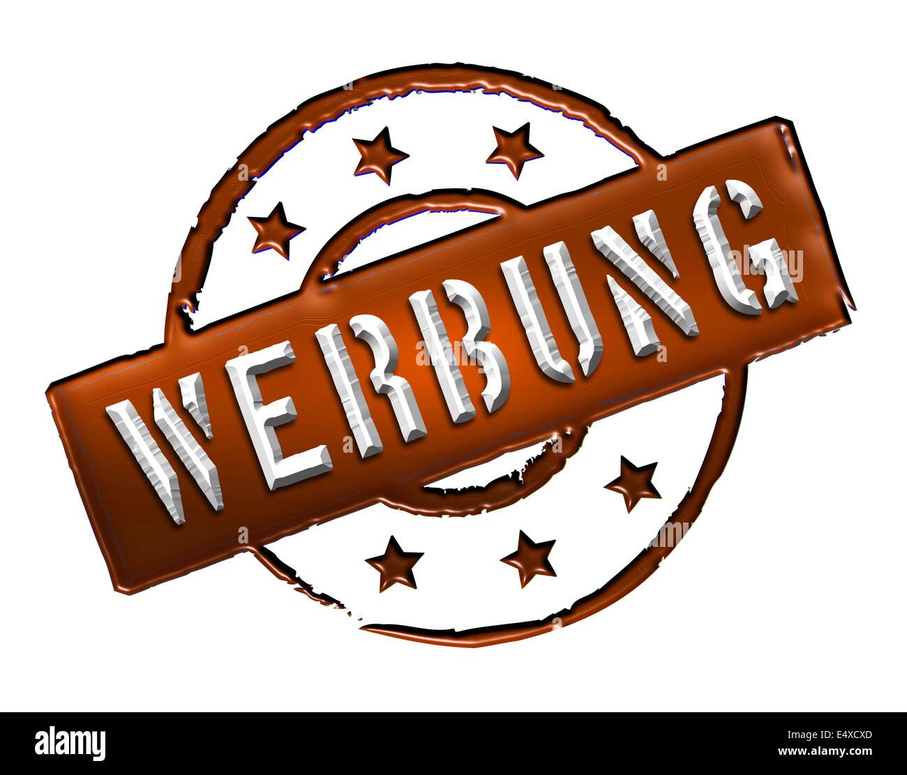 Stamp - Werbung - Stock Image