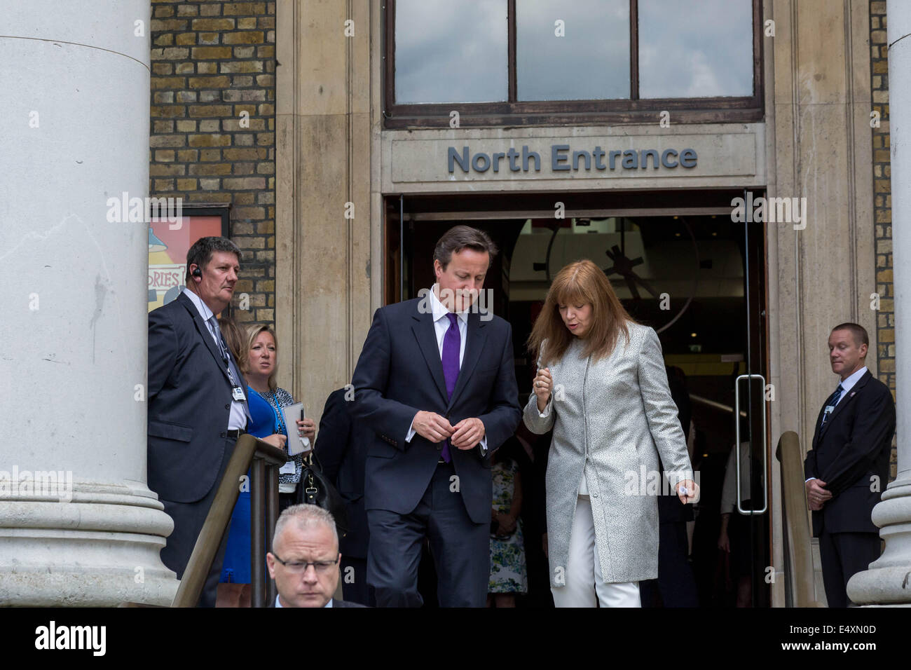 British Prime Minister David Cameron visits Imperial War Museum in London Stock Photo