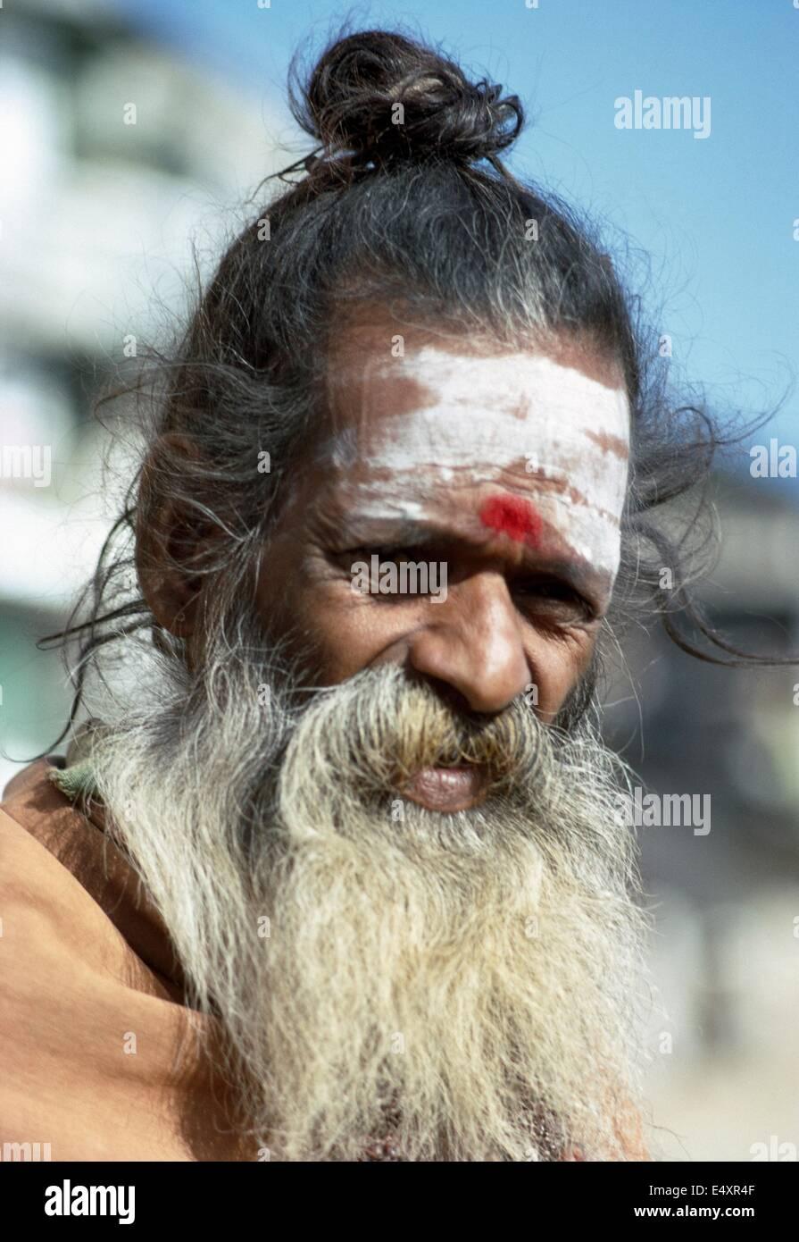 Holy Man, Varanasi (Benares), India, 1968 - Stock Image
