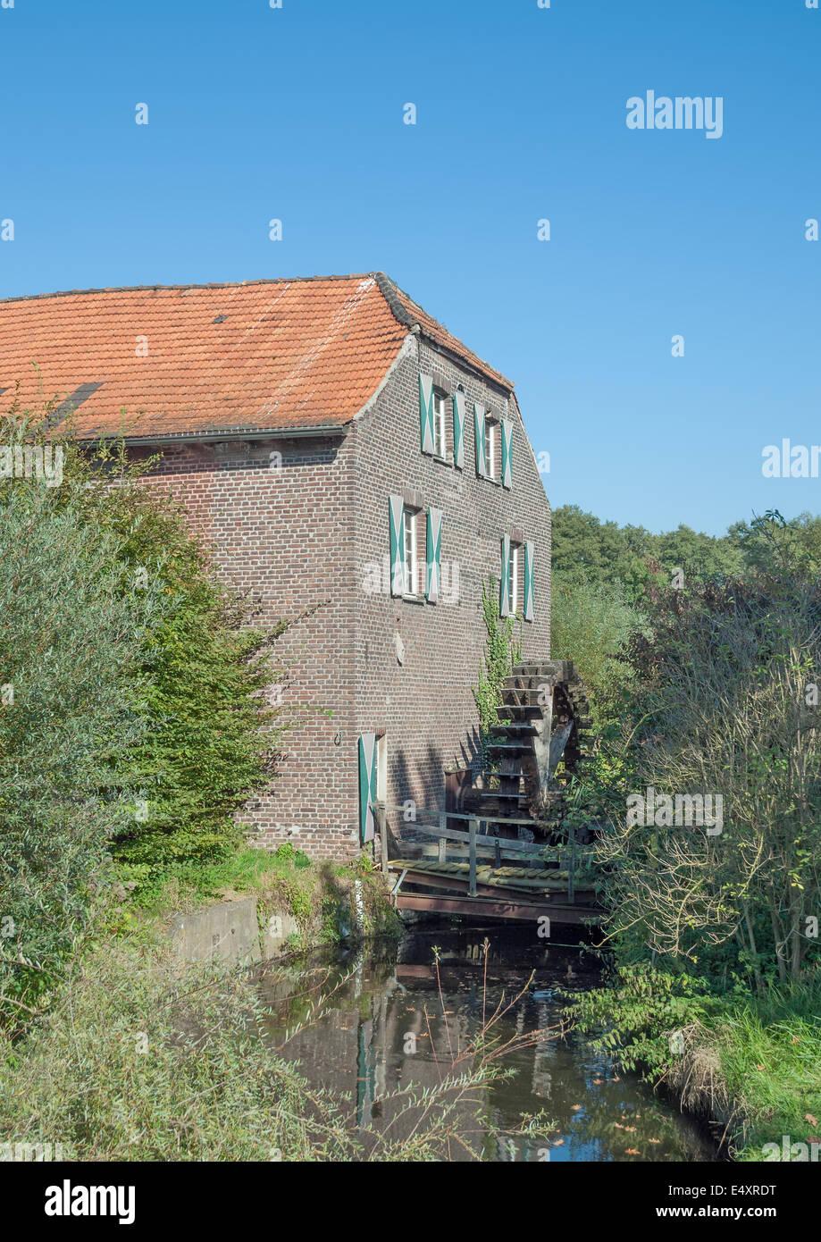 Watermill Leuther Muehle,Rhineland,Germany - Stock Image