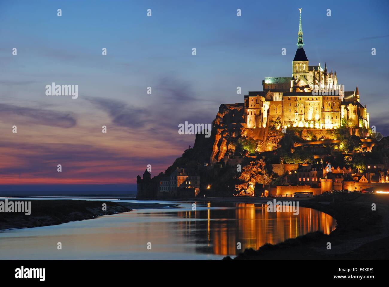 Mont Saint Michel,Normandy,France - Stock Image