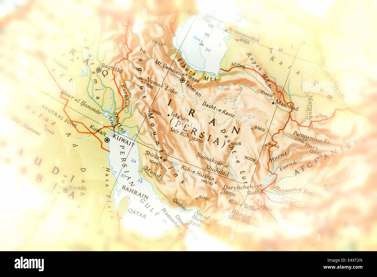 Traveler focused on Persia - preparation for the journey - Stock Image