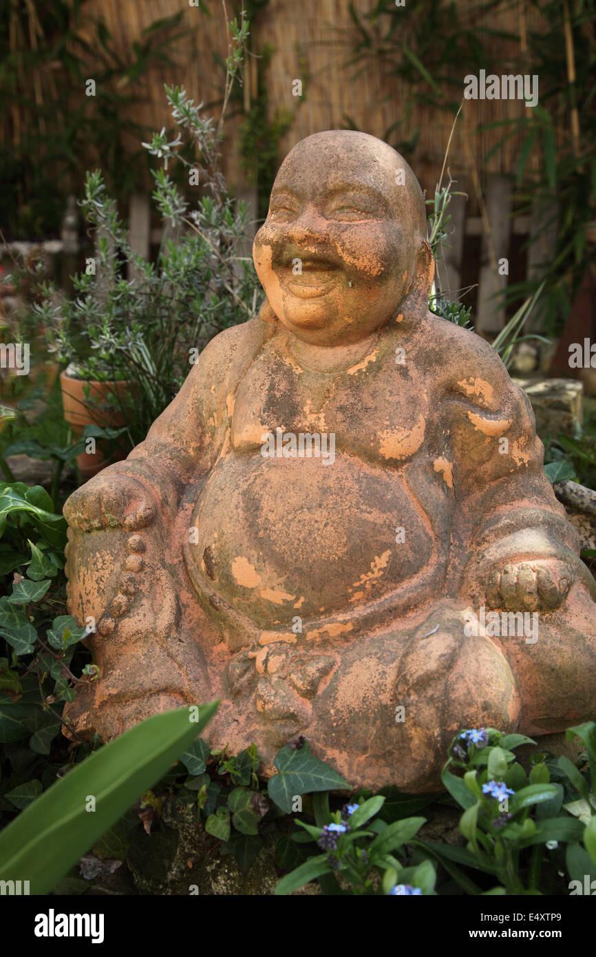 Terracotta Buddha Statue - Stock Image