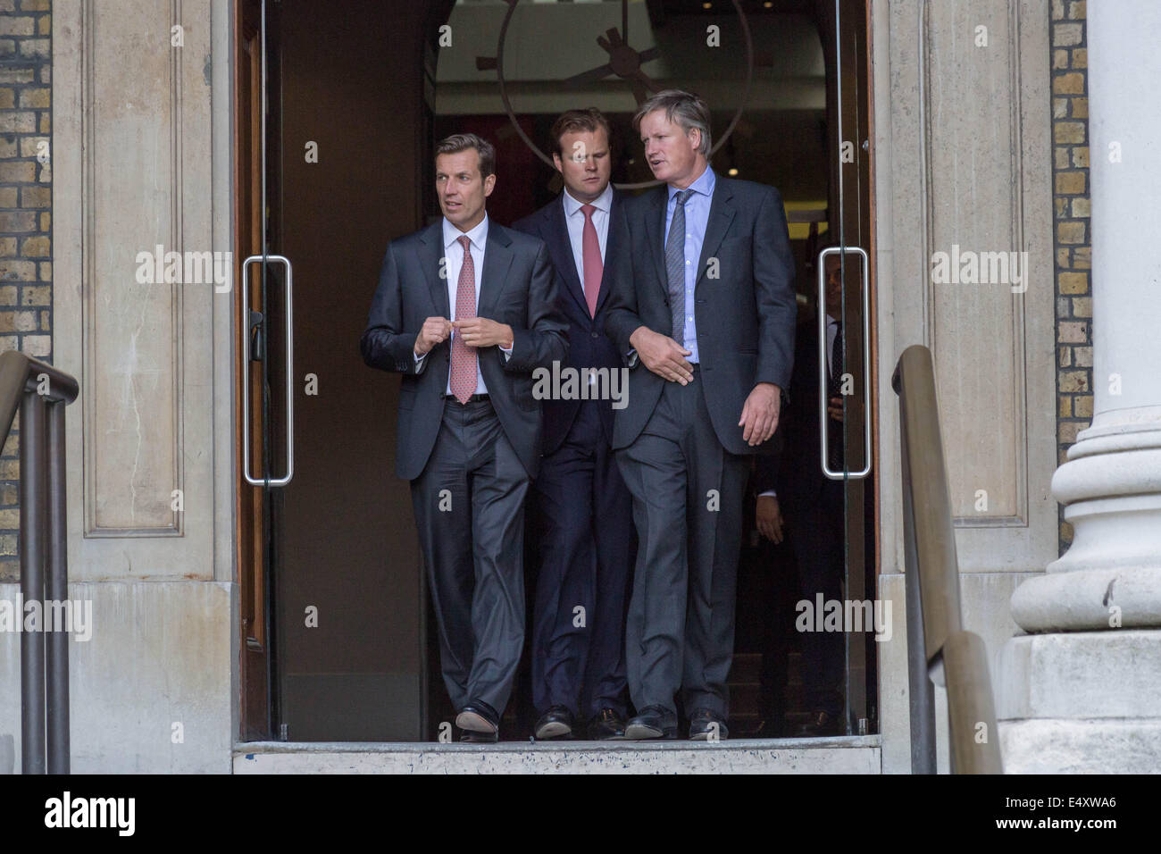 Guests arrive for the opening of newly restored Imperial War Museum in London, UK. - Stock Image