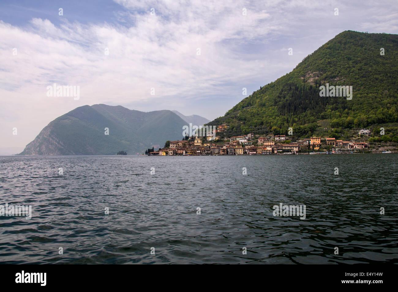 Peschiera on Monteisola on Lake Iseo Italy - Stock Image
