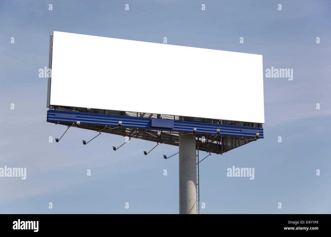 Big empty billboard - Stock Image