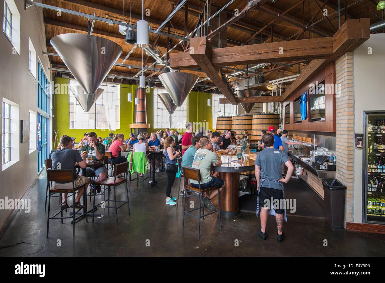 Epic Brewery, Denver, Colorado, USA - Stock Image