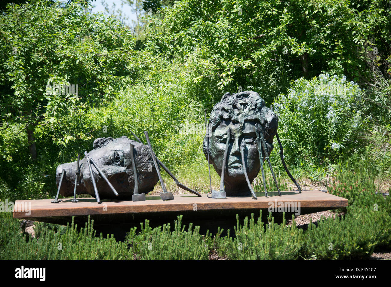 Sculpture in the Frederik Meijer Gardens & Sculpture Park. Grand Rapids, Michigan, USA. - Stock Image