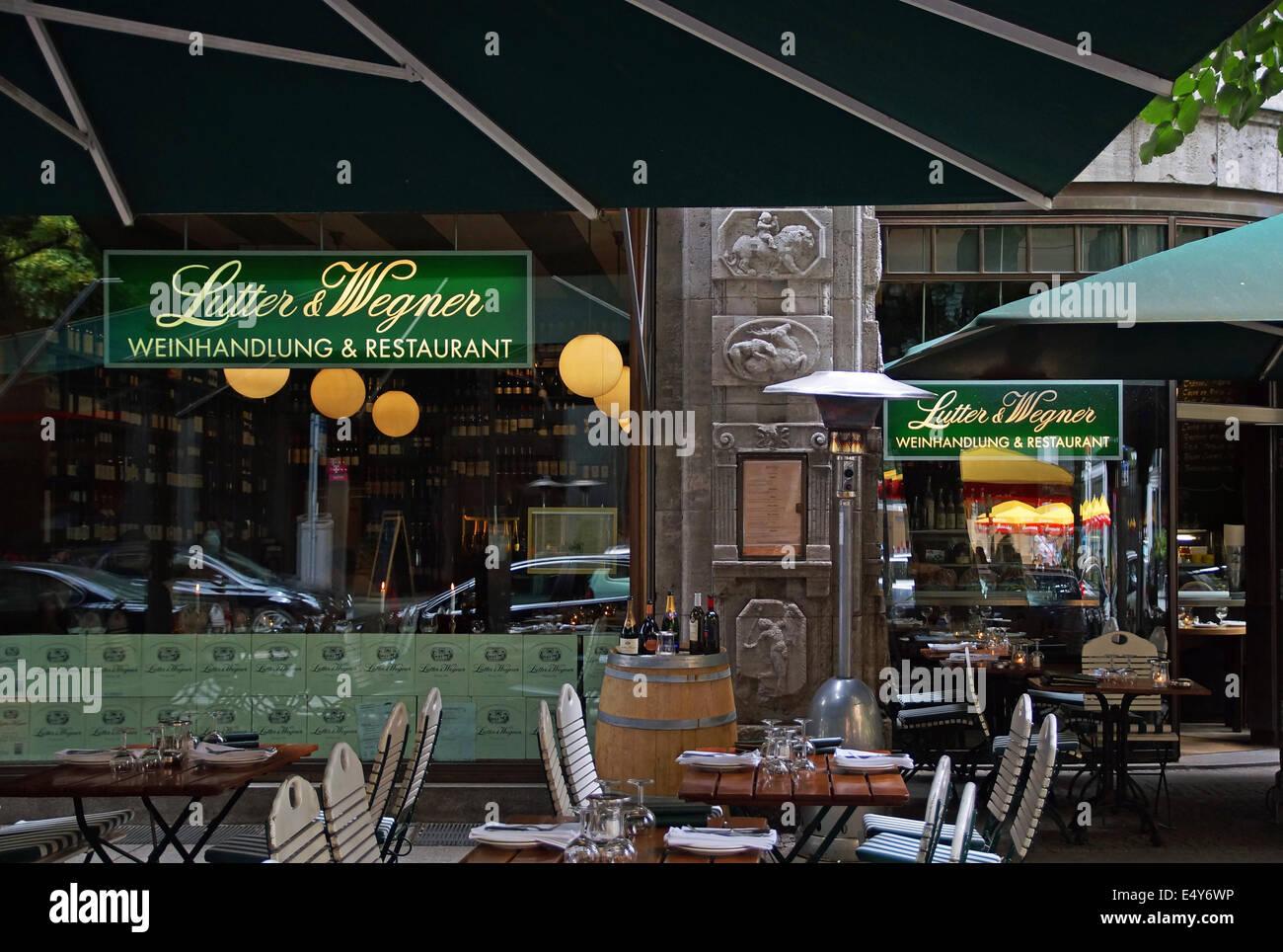 restaurant Lutter und Wegner Berlin Germany Stock Photo