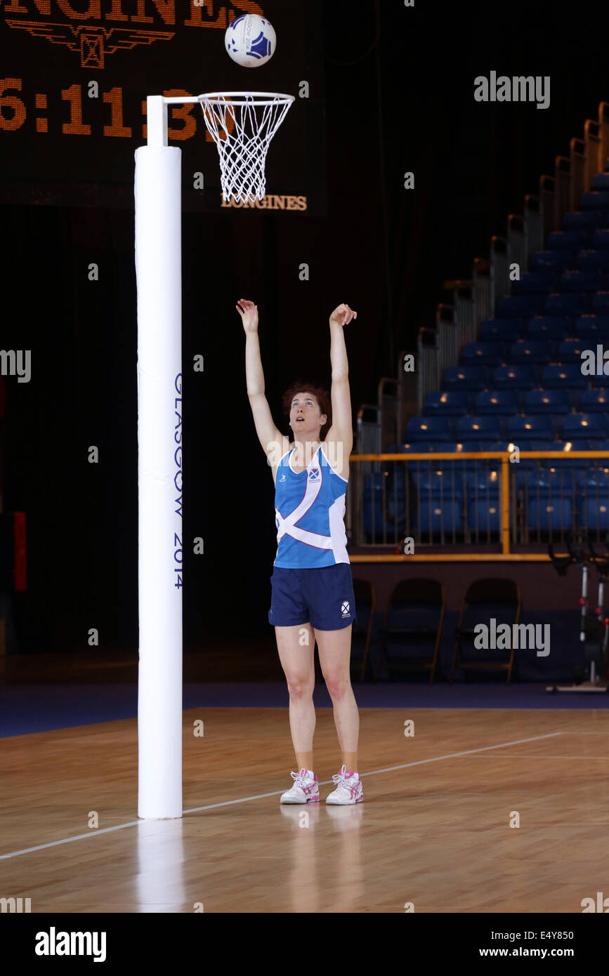 Team Scotland training in the Scottish Exhibition and Conference Centre ( SECC ) the venue for the Glasgow 2014 - Stock Image