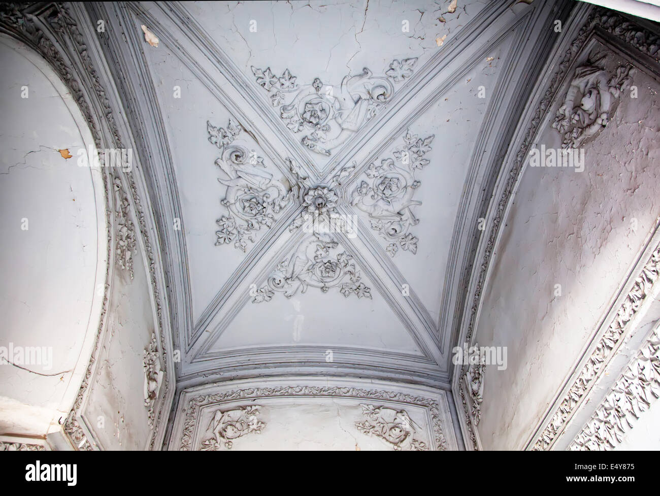 Obsolete classical ceiling - Stock Image