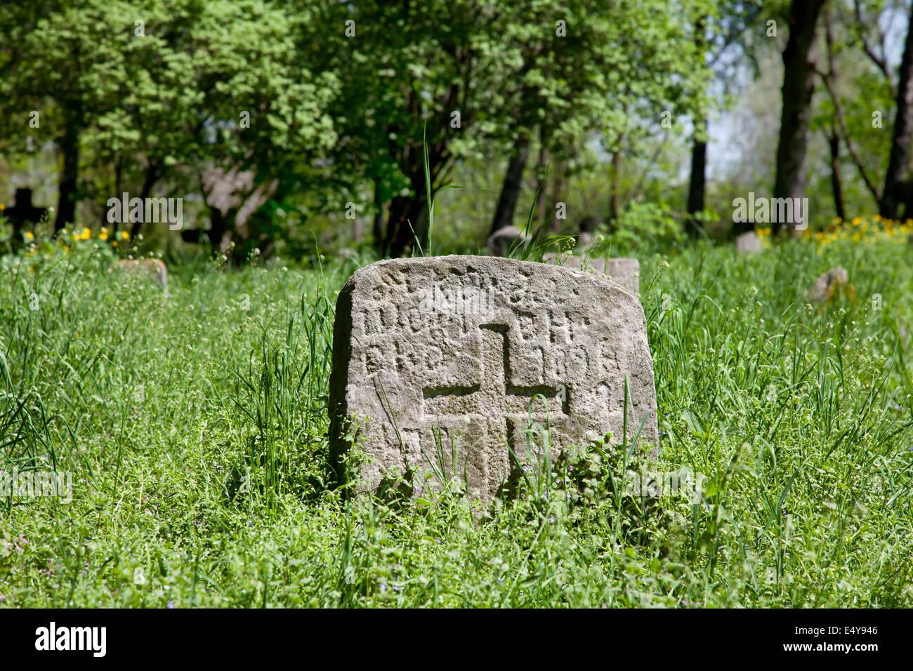 Pagan prehistorical grave - Stock Image