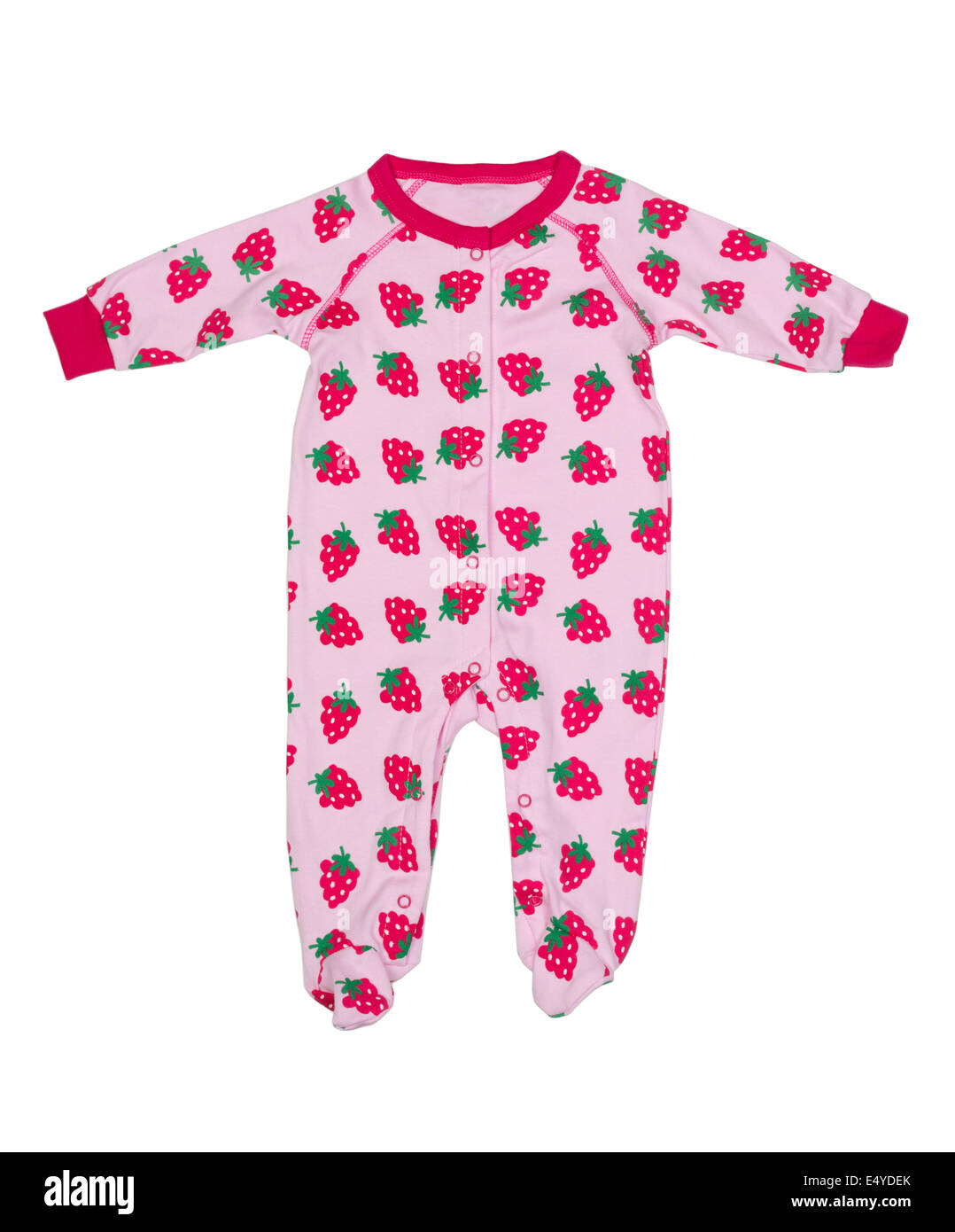 Clothing for newborns with strawberry pattern - Stock Image