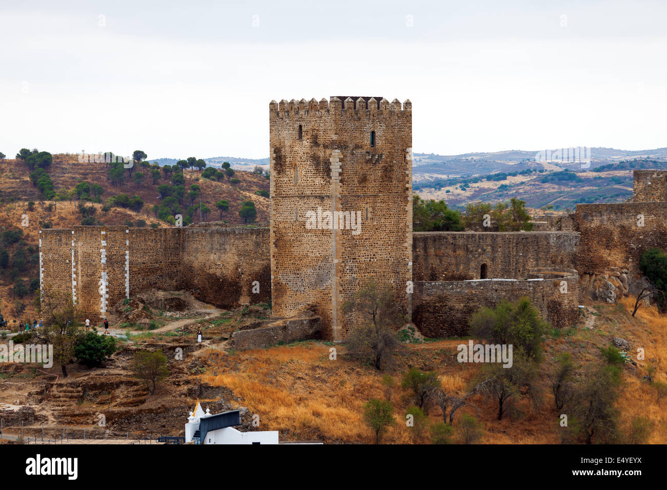 Fortified stone tower - Stock Image